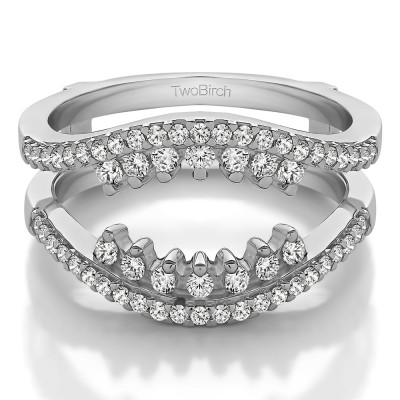 0.486 Ct. Double Row Halo Ring Guard