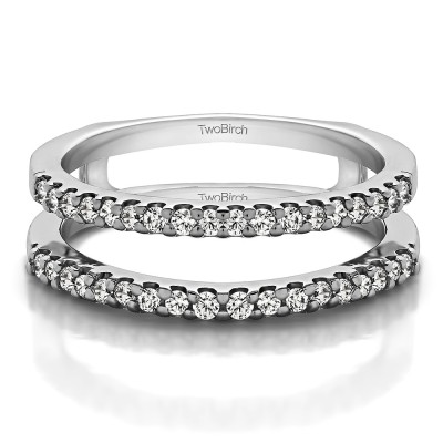 0.36 Ct. Double Shared Prong Straight Ring Guard