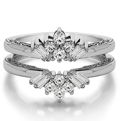 0.64 Ct. Cluster Baguette Wedding Ring Guard