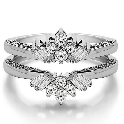 0.64 Ct. Cluster Baguette Wedding Ring Guard