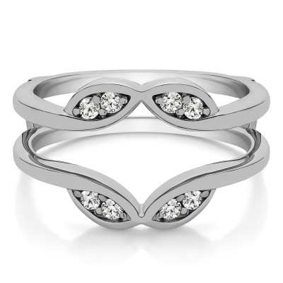 0.2 Ct. Infinity Double Leaf Ring Guard