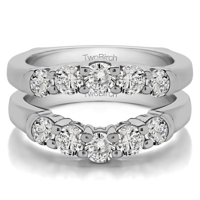 1.48 Ct. Classic Curved Double Shared Prong Ring Guard