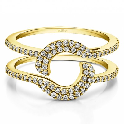 0.44 Ct. Total Halo Wrap Enhancer in Yellow Gold