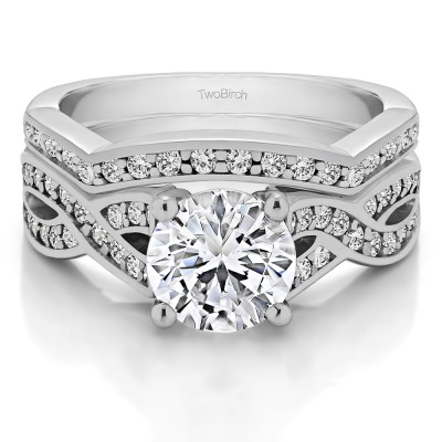 Twisted Shank Engagement Ring  Bridal Set (2 Rings) (2.14 Ct. Twt.)