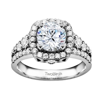 1.18 Ct. Round Halo Engagement Ring