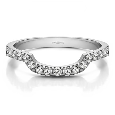 0.285 Carat Contour Prong Set Matching Wedding Ring