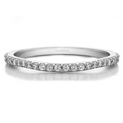 0.182 Carat Curved Prong Set Matching Wedding Ring