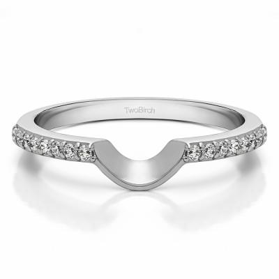 0.16 Carat Notched Matching Wedding Ring