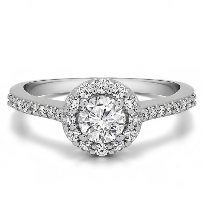 0.92 Ct. Round Halo Engagement Ring