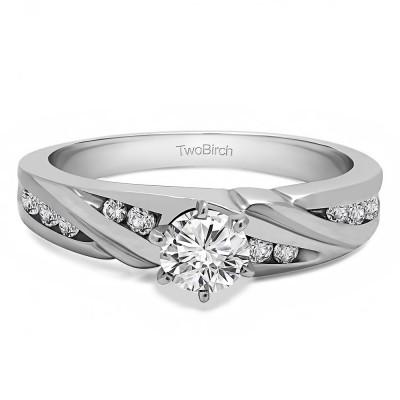 0.31 Ct. Round Infinity Shank Engagement Ring