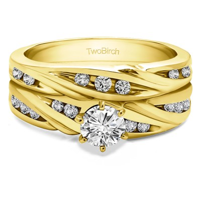 Infinity Wave Engagement Band Bridal Set (2 Rings) (0.44 Ct. Twt.)