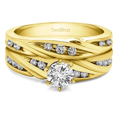 Infinity Wave Engagement Band Bridal Set (2 Rings) (0.81 Ct. Twt.)