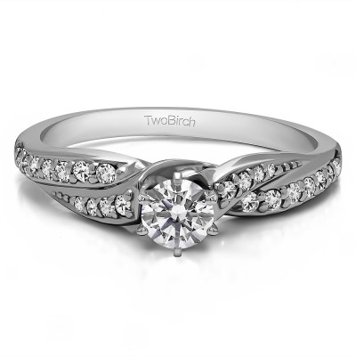 0.5 Carat Twisted Shank Promise Ring
