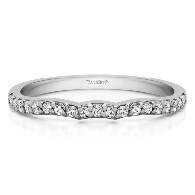 0.2375 Carat Scalloped Matching Wedding Ring