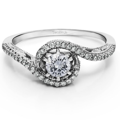 0.47 Carat Vintage Twist Promise Ring