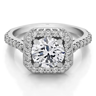 2.12 Ct. Round Halo Engagement Ring