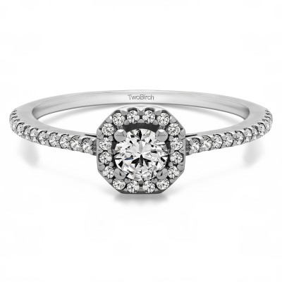 0.47 Ct. Halo Engagement Ring