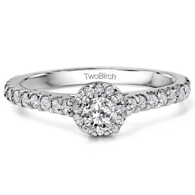 0.61 Carat Halo Promise Ring