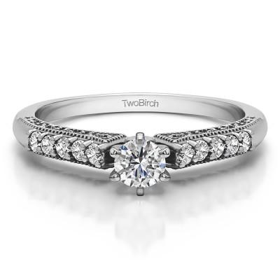 0.35 Carat Vintage Promise Ring