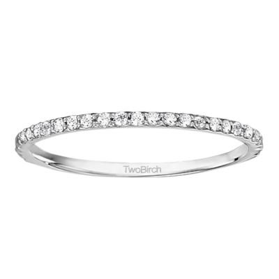 0.25 Carat Low Profile Dainty Matching Wedding Ring