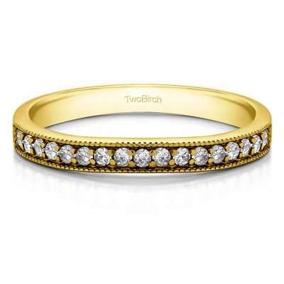 0.17 Carat Low Profile Millgrained Matching Band