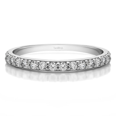 0.32 Carat Curved Shared Prong Matching Band
