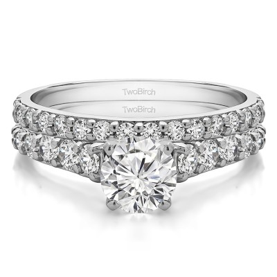 Graduated Engagement Ring Bridal Set (2 Rings) (2.02 Ct. Twt.)