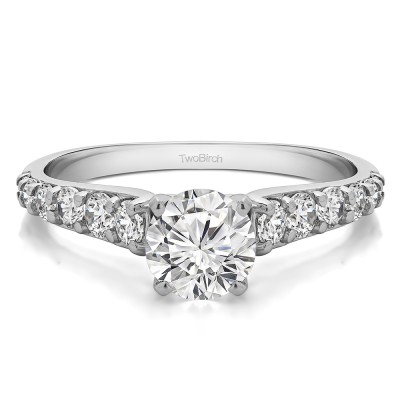 1.7 Ct. Round Graduated Engagement Ring