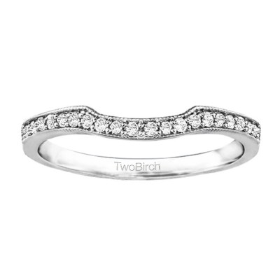 0.2 Carat Shared Prong Matching Wedding Band