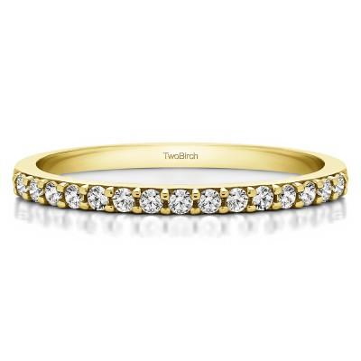 0.225 Carat Low Profile Straight Matching Wedding Ring