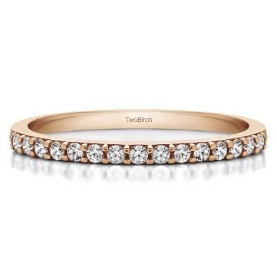 0.23 Carat Low Profile Straight Matching Wedding Ring