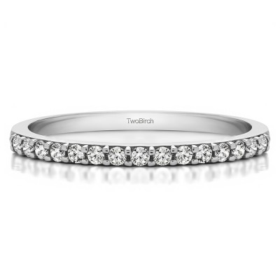 0.23 Carat Low Profile Straight Matching Wedding Ring