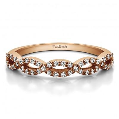 0.184 Carat Infinity Matching Wedding Ring