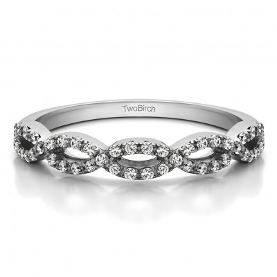 0.184 Carat Infinity Matching Wedding Ring