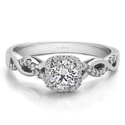 0.6 Ct. Round Infinity Halo Engagement Ring