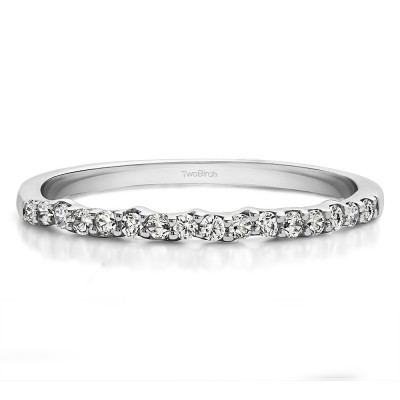 0.16 Carat Scalloped Edge Matching Wedding Band