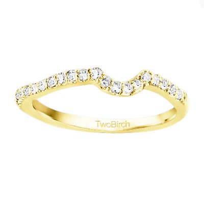 0.21 Carat Notched Matching Ring for Halo Engagement Ring