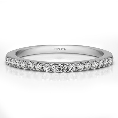 0.24 Carat Low Profile Shared Prong Wedding Band