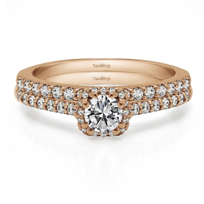 Classic Halo Engagement Ring Bridal Set (2 Rings) (1.3 Ct. Twt.)