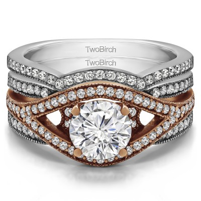 Fancy Halo Engagement Ring Bridal Set (2 Rings) (1.55 Ct. Twt.)
