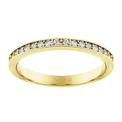 0.3375 Carat Low Profile Straight Wedding Ring