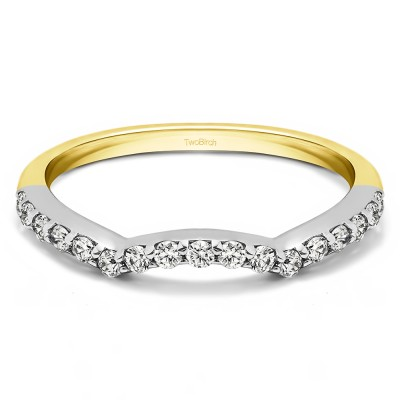 0.2975 Carat Matching Wedding Ring For Halo Engagement Ring