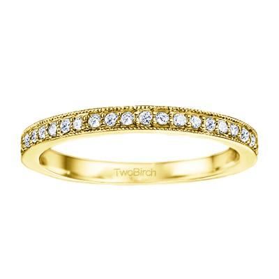 0.1875 Carat Low Profile Vintage Wedding Ring