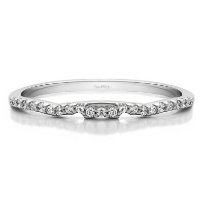 0.115 Carat Plain Vintage Matching Wedding Ring