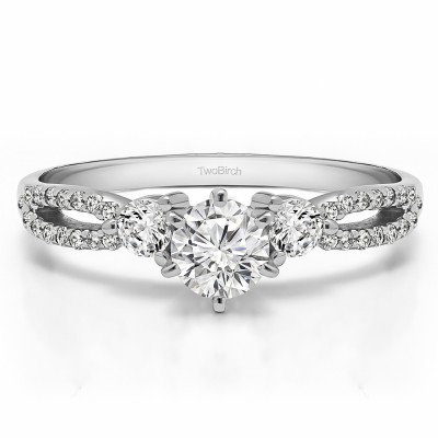 0.83 Ct. Round Three Stone Infinity Engagement Ring
