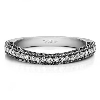 0.3125 Carat Curved Matching Wedding Ring