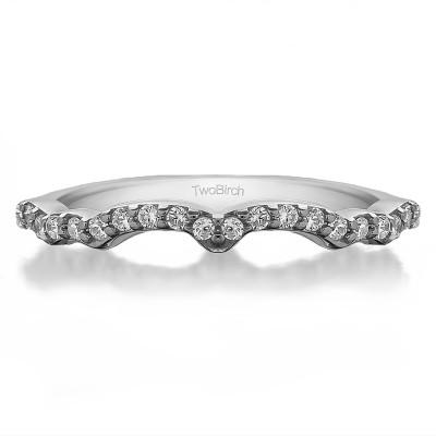0.33 Carat Scalled Edge Matching Wedding Ring