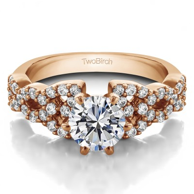 1.72 Ct. Round Infinity Engagement Ring in Rose Gold