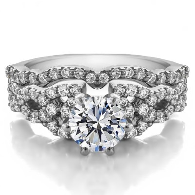 Infinity Engagement Ring Bridal Set (2 Rings) (2.05 Ct. Twt.)
