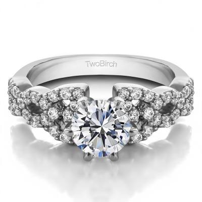 1.72 Ct. Round Infinity Engagement Ring